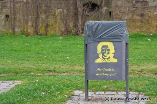 Big Goethe is watching you