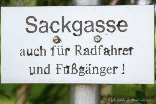 Staustufe Forggensee - Achtung Sackgasse!