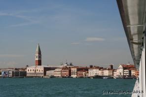 Venedig - Blick aus dem Kabinenfenster