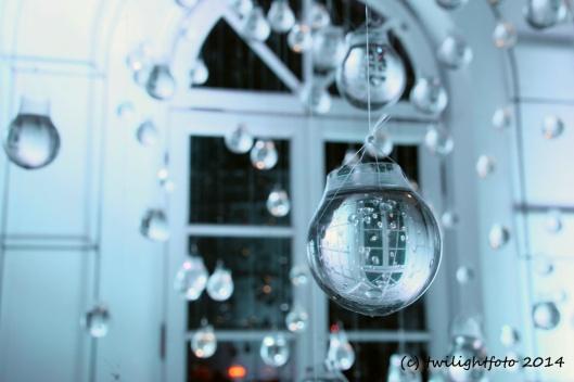 Eingefrorener Regentropfen