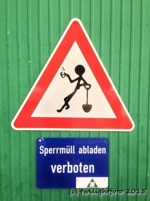 Müll abladen verboten