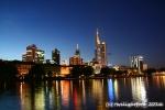 Skyline Frankfurt abends