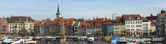 Markt auf dem Domplatz zu Erfurt