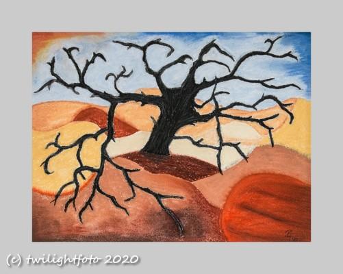 Mystischer Baum in der Wüste