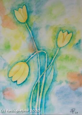 Tulpen - Aquarell
