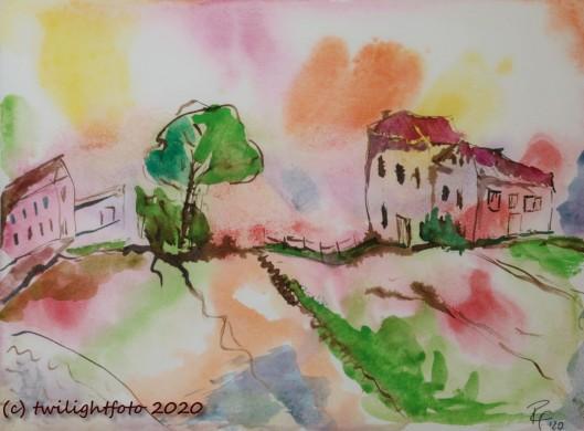 Landschaft - Skizze