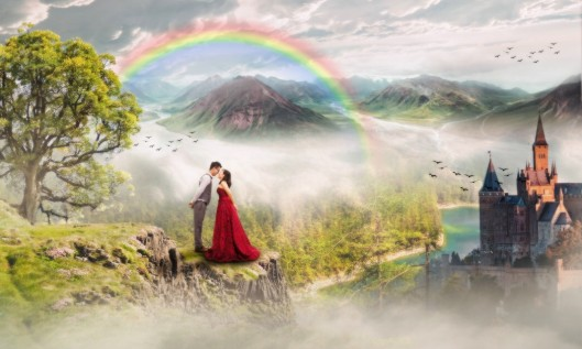 Kitschbild mit Regenbogen - (c) pixabay.com
