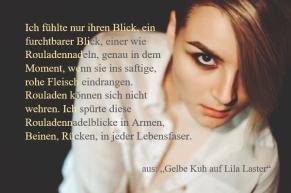 "Textschnipsel aus ""Gelbe Kuh auf lila Laster"""